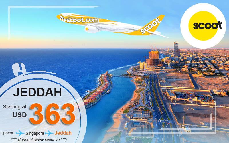 Vé máy bay đi Jeddah giá rẻ