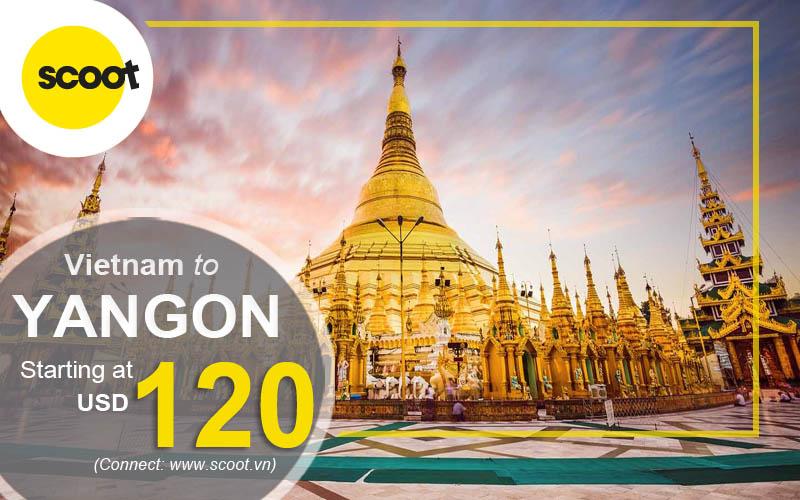 Vé máy bay đi Yangon (RGN)