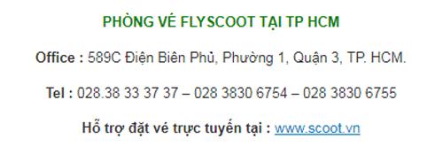 địa chỉ fly scoot việt nam