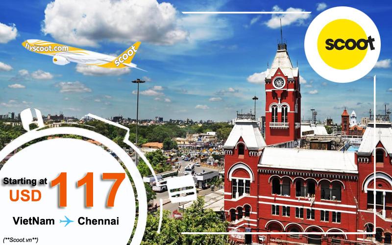 Vé máy bay đi Chennai giá rẻ