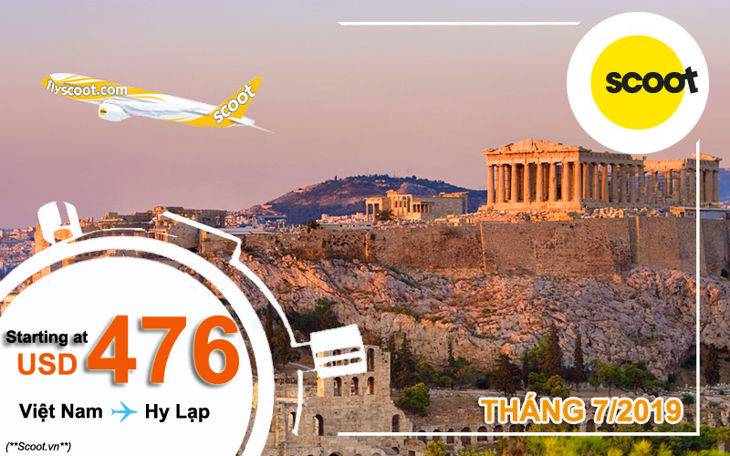 Vé máy bay đi Hy Lạp khuyến mãi đến 22/7/2019
