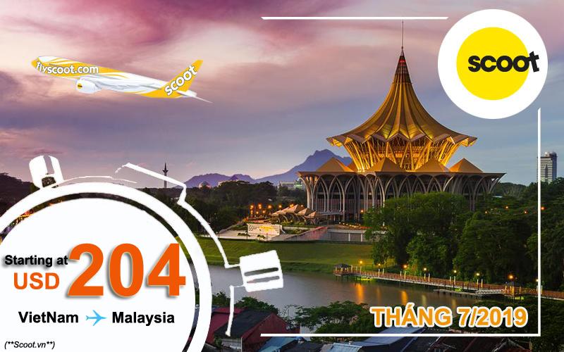 Vé máy bay đi Malaysia khuyến mãi đến 22/7/2019 – Scoot Air