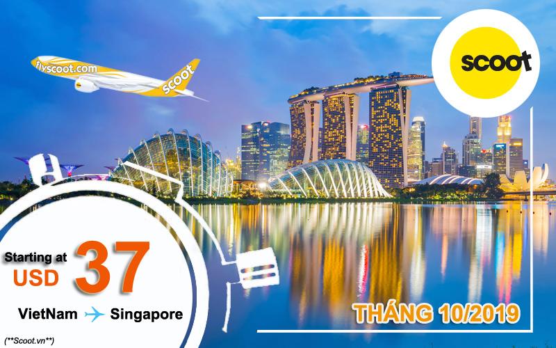 Vé máy bay đi Singapore tháng 10/2019