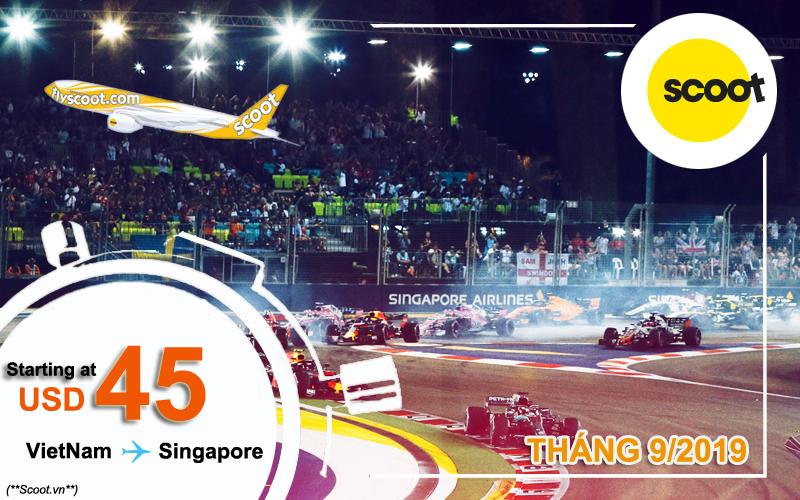 Vé máy bay đi Singapore tháng 9/2019
