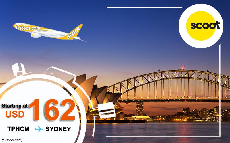 Vé máy bay từ tphcm đi Sydney